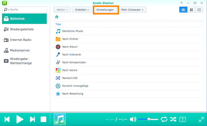 Synology: AudioStation mit freien Songtextbibliotheken