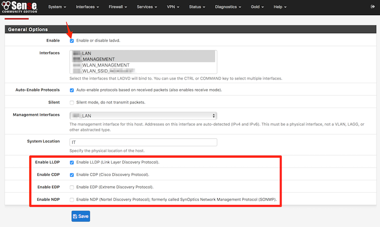 Networking/Security: LLDP, CDP, EDP, NDP auf pfSense