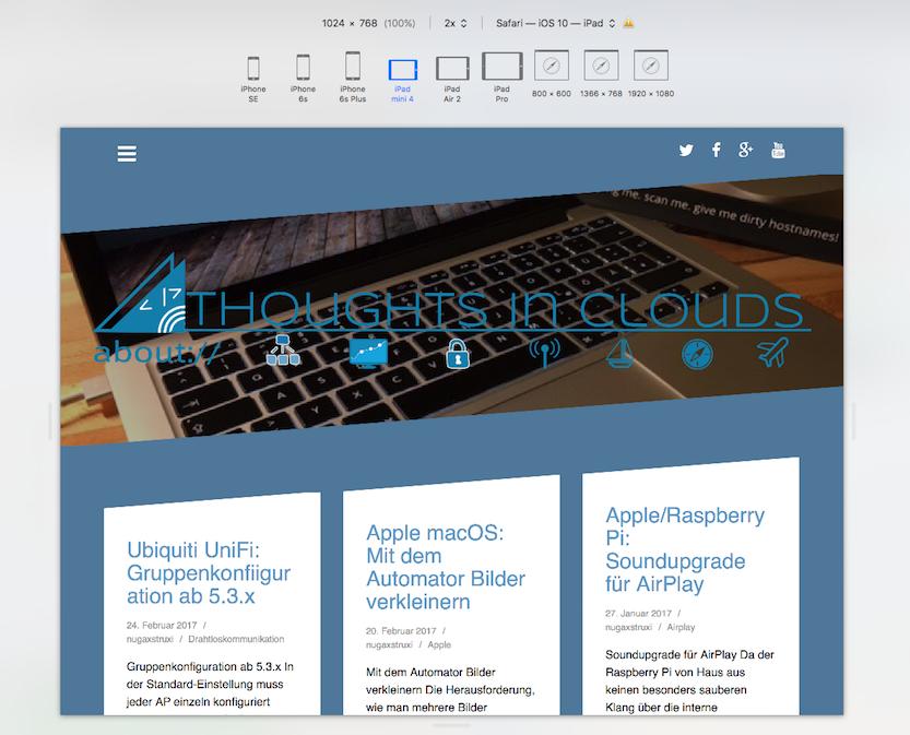 "Apple macOS: ""Responsive Design""-Modus in Safari"