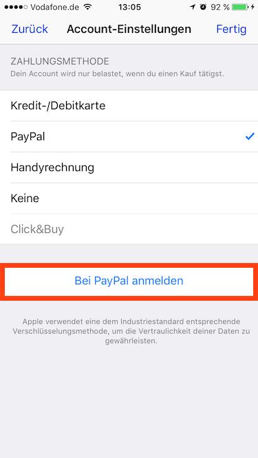 Apple: AppStore nun mit PayPal