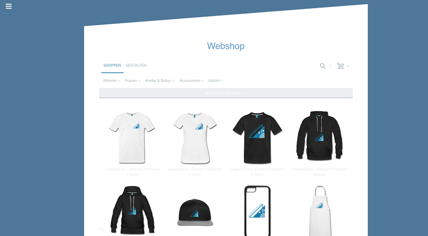 In eigener Sache: Webshop online!